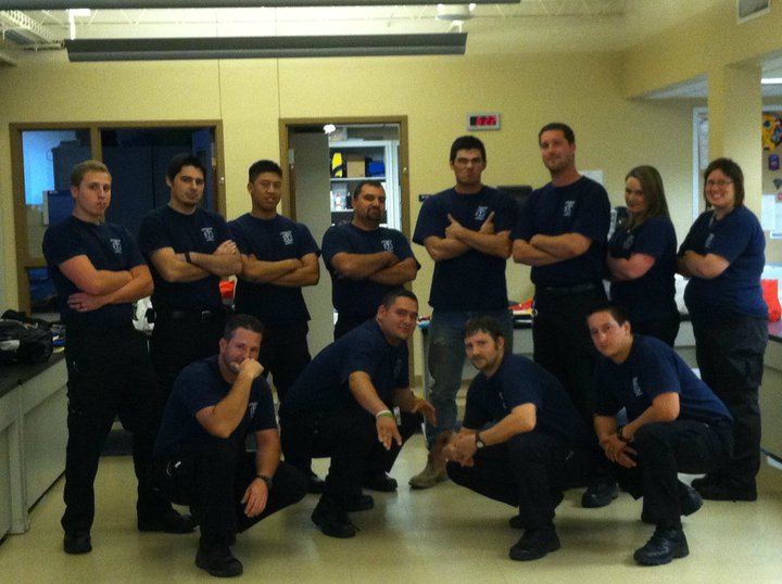 Pictures of my classmates and I in the EMT Basic Program